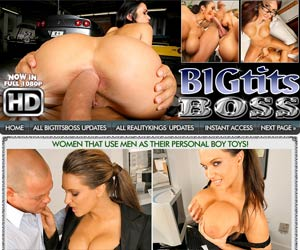 Big Tits Boss! Powerful big titied business women that treat their men like toys!